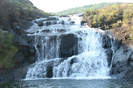 Tillietudlem waterfall is a place of peace and tranquility